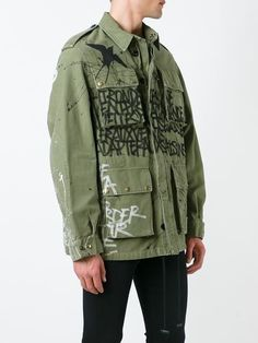 Faith Connexion Graffiti Print Cargo Jacket - Jean Pierre Bua - Farfetch.com