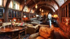 The library at Hearst Castle--I made this the wallpaper on my Nook.