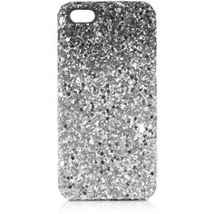 TOPSHOP Super Glitter iPhone 5 Case ($20) ❤ liked on Polyvore featuring accessories, tech accessories, iphone, phone, phone cases, electronics, black and topshop
