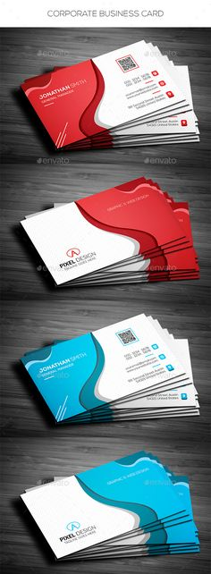 #Corporate Business Card - Corporate #Business #Cards Download here: https://graphicriver.net/item/corporate-business-card/19294690?ref=alena994