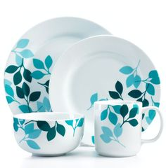 Turquoise Leaf Dishes