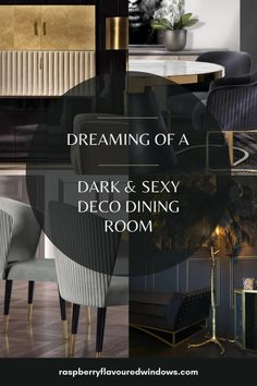Are you looking for dark dining room ideas? Whether you want to go black, grey, dark blue or green and you need some inspiration then look no further. Maybe your dining room is small or the opposite end of the scale and large, I've got all the answers. #raspberryflavouredwindows #diningroom #darkwalls