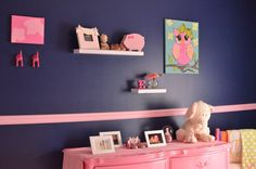 Pink & Navy Nursery I love this