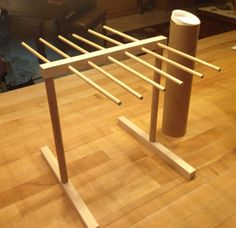 This pasta drying rack is hand made in my home workshop and comes to you in a cardboard tube.  It assembles in minutes and can be disassembled and stored back in the tube for storage between uses.  Purchase it at https://www.etsy.com/listing/180517655/hardwood-pasta-drying-rack-handcrafted?ref=sr_gallery_3&ga_search_query=pasta+drying+rack&ga_ship_to=US&ga_search_type=all&ga_view_type=gallery