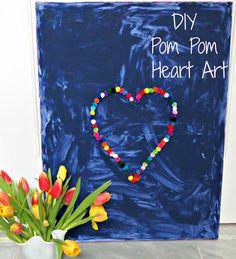 the little black door: pom pom heart art
