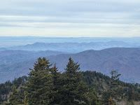The view from the top of the Mt. Sterling Fire Tower in the Great Smoky Mountains National Park.