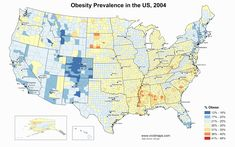 Obesity prevalence in the US 2004-2013
