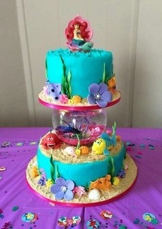 About Little Mermaid Birthday Cakes — CLASSIC Style : Professional Little Mermaid Cakes Ideas<br> Little Mermaid Birthday Cake, Little Mermaid Cakes, Little Mermaid Parties, The Little Mermaid, Cake Birthday, 5th Birthday, Birthday Ideas, Graham Crackers, Sirenita Cake