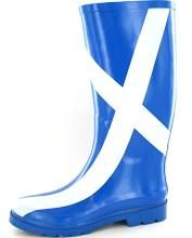 Scottish flag wellies