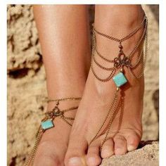 mint for bracelet wanelo shop sale string white pattern handmade anklet on fit ankle best tribal bracelets will products pink