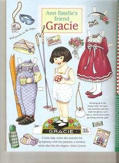 (⑅ ॣ•͈ᴗ•͈ ॣ)♡                                                             ✄Paper Doll Ann Estelle Gracie paper doll 3 by Lagniappe*Too, via Flickr