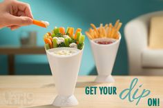 Dipping Cone is great for veggies and french fries.