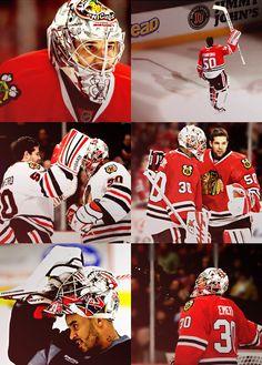 Corey #Crawford & Ray #Emery, Chicago #Blackhawks