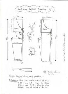 Esquema de modelagem de jardineira tamanho 14 anos. 7e6621fc96b