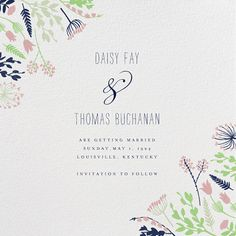 Brides: Save-the-Date Cards for a Spring Wedding