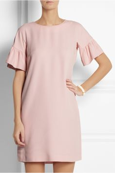 RED Valentino Ruffled-sleeve crepe mini dress NET-A-PORTER.COM