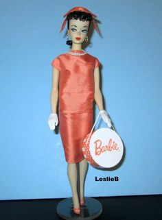 2009 Mattel Gift Apricot Sheath modeled by a #1 Barbie from the collection of Leslie Bote.