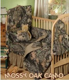 DIY baby bedding for boys | mossy oak baby camouflage camo boys crib bedding set