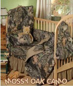 DIY baby bedding for boys | mossy oak baby camouflage camo boys crib bedding set
