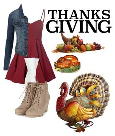 """""""Happy Thanksgiving!"""" by loves5sos ❤ liked on Polyvore featuring Glamorous, Chantal Thomass and LE3NO"""