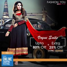 #GOSF Fever. Shop for a gorgeous collection of Voguish Suits at tremendous discounts. Shop Now>>www.fashionandyou.com