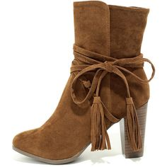 Collette Tan Suede High Heel Ankle Booties ($37) ❤ liked on Polyvore featuring shoes, boots, ankle booties, beige, suede boots, tan boots, beige suede booties, breckelles boots and beige boots