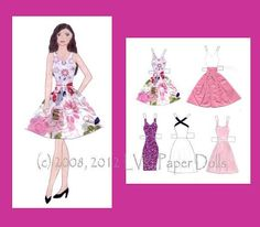 Gabriela Paper Doll by LVKPaperDolls on Etsy