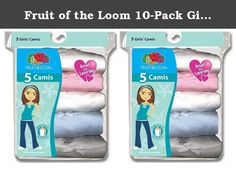 Fruit of the Loom 10-Pack Girls Assorted Cami Camisoles Undershirts Tank Tops, Medium. This pack of 100% cotton girls' assorted Cami / camisoles are a perfect pack for any girl, the assorted pack provides a variety of prints and colors and all garments are label free.