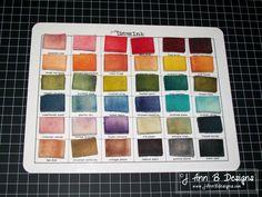 ranger color charts   Ann B Designs: Distress Ink Blending Foam Storage