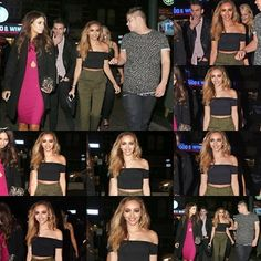 More of Jade out with Danielle Peazer in London last night (15.11.14)