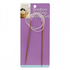 - Set of 36 Circular Bamboo Knitting Needle Set - Sewing & Needlecrafts Needles & Needle Sets - I Crochet World Bamboo Knitting Needles, Knitting Needle Sets, Knitting Kits For Beginners, Vogue Knitting, Crochet World, Knitting Supplies, Kits For Kids, Knitted Bags, Needles Sizes