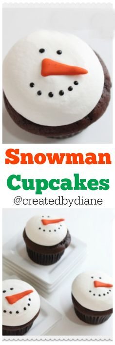 snowman cupcakes @createdbydiane