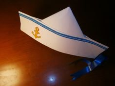 Gorro de marinero Nautical Hats, Nautical Outfits, Nautical Theme, Vbs Crafts, Crafts To Do, Sewing For Kids, Diy For Kids, Navy Costume, Boat Theme