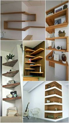 Sublime Useful Tips: Floating Shelves Tv Stand Bedrooms floating shelves for tv home.Floating Shelves Under Tv Woods floating shelves storage kitchens. Creative Tips: Floating Shelf Bathroom Toilets floating shelves library bookshelves. 6 Creative And Ine Bedroom Tv Stand, Floating Shelf Decor, Floating Corner Shelves, Floating Shelves Bedroom, Diy Casa, Shelf Design, Dining Room Design, Dining Rooms, Home Interior Design