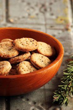Rosemary Sea Salt Crackers.