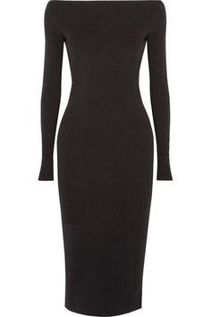 Narciso Rodriguez - Off-the-shoulder Stretch-crepe Dress - Black - IT