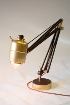Architect Table Lamp adjustable copper wood brass от Vladeecrafts