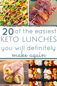 a whole month of low carb, keto friendly lunch ideas. simple recipes for busy people. unboring lunch ideas you won't get bored with. keto diet, keto lunches, ketogenic, what is keto, keto lunch ideas, meal prep, make ahead meals