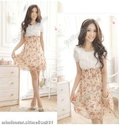 dress flowers cute d