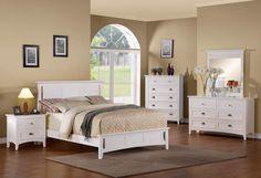 Robinson White Wood Master Bedroom Set