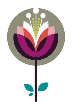 love this graphic flower image... bloom. inspiration for a river waterlily?