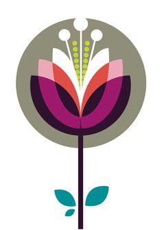 Graphic Retro lotus flower                                                                                                                                                                                 More