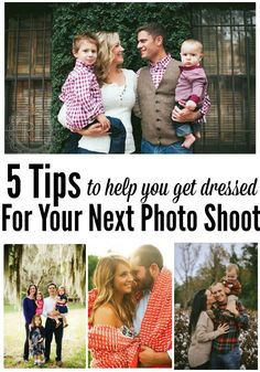 5 Awesome tips to help you & your family get ready for your next photo shoot! A must pin for anyone planning on ever getting family photos done!