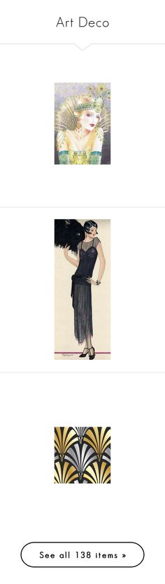 """Art Deco"" by shelley-harcar ❤ liked on Polyvore featuring costumes, 1920s costumes, flapper costume, 1920s flapper costume, fringe flapper costume, sequin flapper costume, home, home decor, words and text"