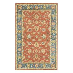 Home Decorators Collection Old London Terra/Blue 4 ft. x 6 ft. Area Rug - 4561620110 - The Home Depot
