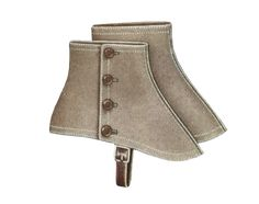 1920s spats- Grey, tan or off-white wool or linen spats with pearl buttons on the sides become synonymous with gangsters.  vintagedancer.com/1920s/mens-1920s-shoes
