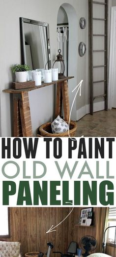How to Paint Wall Paneling | The Creek Line House Painted Paneling Walls, Painting Wood Paneling, Painting Cabinets, Diy Home Decor Projects, Cool Diy Projects, Rustic Farmhouse Decor, Farmhouse Style, Old Wall, Diy Home Improvement