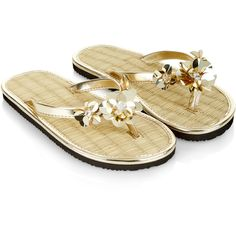 Monsoon Sequin Flower Seagrass Flip Flops (240.840 IDR) ❤ liked on Polyvore featuring shoes, sandals, flip flops, strappy flip flops, flower flip flops, strap sandals, beach shoes and sequin sandals
