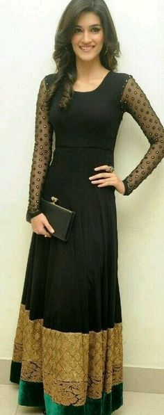 New Bollywood Replica Kriti Sanon Black Suit only in 1350  www.voguefashion.co