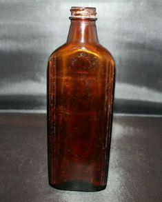 Vintage Amber Medical Medicine Bottle - The Chattanooga Medicine Co Antique Glass Bottles, Vintage Bottles, Medicine Bottles, Jars, Amber, Medical, Antiques, Ebay, Medical Doctor